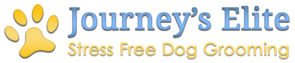 Journey's Elite Stress Free Dog Grooming, Logo